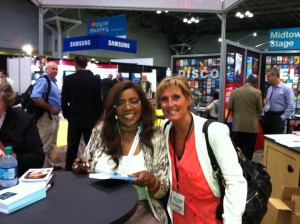 With Gloria Gaynor at BEA